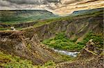 Canyon leading to Glymur, the highest of the Icelandic waterfalls. It is located on the west of the island. Stock Photo - Royalty-Free, Artist: Fyletto                       , Code: 400-06565804