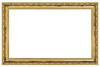large golden frame isolated on white background Stock Photo - Royalty-Freenull, Code: 400-06567119