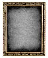 golden frame with empty canvas isolated on white background Stock Photo - Royalty-Freenull, Code: 400-06568754