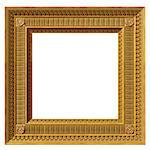 Illustration of a gilded square neoclassical picture frame Stock Photo - Royalty-Free, Artist: paulfleet                     , Code: 400-06569590