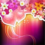 Valentine's day with hearts and lilies Stock Photo - Royalty-Free, Artist: Merlinul, Code: 400-06569672