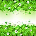 Saint Patrick's Day background with clover Stock Photo - Royalty-Free, Artist: Merlinul                      , Code: 400-06569678