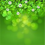 Saint Patrick's Day background with clover Stock Photo - Royalty-Free, Artist: Merlinul                      , Code: 400-06569679
