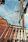 Masts and rigging of a sailing ship photo Stock Photo - Royalty-Free, Artist: vicnt                         , Code: 400-06569773