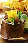 guakomole and corn chips - avocado and tomato dip Stock Photo - Royalty-Free, Artist: Dream79                       , Code: 400-06570438