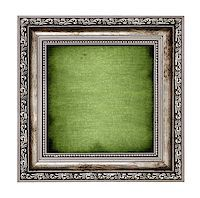 frame with green canvas isolated on white background Stock Photo - Royalty-Freenull, Code: 400-06570779