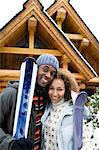 Portrait of a couple in skiwear Stock Photo - Premium Royalty-Free, Artist: Blend Images, Code: 6114-06589464