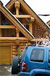 A car outside of a chalet Stock Photo - Premium Royalty-Free, Artist: Raimund Linke, Code: 6114-06589480