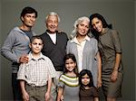 Family portrait Stock Photo - Premium Royalty-Free, Artist: Blend Images, Code: 6114-06589501
