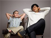 Father and son Stock Photo - Premium Royalty-Freenull, Code: 6114-06589537