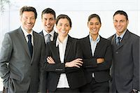 five people - Portrait of businesspeople Stock Photo - Premium Royalty-Freenull, Code: 6114-06589576