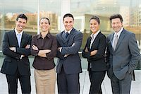 five people - Portrait of businesspeople Stock Photo - Premium Royalty-Freenull, Code: 6114-06589587