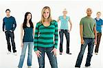 Portrait of young people Stock Photo - Premium Royalty-Free, Artist: Blend Images, Code: 6114-06589729