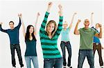 Young people celebrating Stock Photo - Premium Royalty-Free, Artist: Siephoto, Code: 6114-06589737