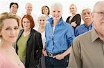 Crowd of mature and senior adults Stock Photo - Premium Royalty-Free, Artist: Blend Images, Code: 6114-06589747