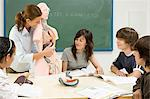 Pupils and teacher with anatomical model Stock Photo - Premium Royalty-Free, Artist: ableimages, Code: 6114-06589761