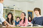 Teacher and pupils in classroom Stock Photo - Premium Royalty-Free, Artist: Cultura RM, Code: 6114-06589783