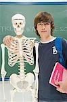 Boy with skeleton Stock Photo - Premium Royalty-Free, Artist: Science Faction, Code: 6114-06589800