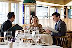 Colleagues in a restaurant Stock Photo - Premium Royalty-Free, Artist: Cultura RM, Code: 6114-06590000