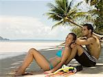 Couple on beach Stock Photo - Premium Royalty-Free, Artist: Allan Baxter, Code: 6114-06590024