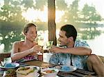 Couple having romantic meal Stock Photo - Premium Royalty-Free, Artist: Siephoto, Code: 6114-06590026