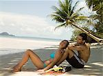 Couple on beach Stock Photo - Premium Royalty-Free, Artist: Michael Eudenbach, Code: 6114-06590033