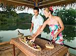 Couple preparing food Stock Photo - Premium Royalty-Free, Artist: CulturaRM, Code: 6114-06590040