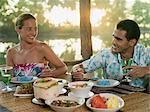 Couple having romantic meal Stock Photo - Premium Royalty-Free, Artist: Allan Baxter, Code: 6114-06590042
