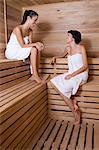 Friends in a sauna Stock Photo - Premium Royalty-Freenull, Code: 6114-06590092