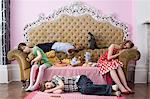 Children sleeping at tea party Stock Photo - Premium Royalty-Free, Artist: Beth Dixson, Code: 6114-06590239