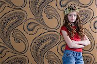 Girl wearing a crown Stock Photo - Premium Royalty-Freenull, Code: 6114-06590248