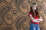 Girl wearing a crown Stock Photo - Premium Royalty-Free, Artist: Aflo Relax, Code: 6114-06590248