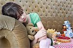 Girl sleeping at tea party Stock Photo - Premium Royalty-Free, Artist: Michael Mahovlich, Code: 6114-06590250