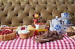 Toy at a tea party Stock Photo - Premium Royalty-Free, Artist: Uwe Umsttter, Code: 6114-06590261