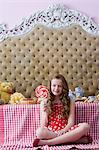 Girl with a lollipop Stock Photo - Premium Royalty-Free, Artist: Aflo Relax, Code: 6114-06590267