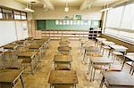 Chairs and desks in a classroom Stock Photo - Premium Royalty-Free, Artist: Siephoto, Code: 6114-06590471
