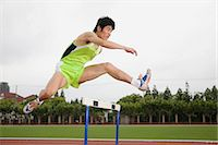 sprint - Hurdler Stock Photo - Premium Royalty-Freenull, Code: 6114-06590487