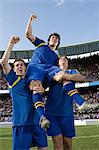Footballers celebrating Stock Photo - Premium Royalty-Free, Artist: Minden Pictures, Code: 6114-06590526