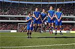 Footballers defending a free kick Stock Photo - Premium Royalty-Free, Artist: Aflo Sport, Code: 6114-06590528