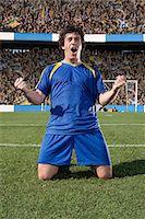 footballeur - Footballer celebrating Stock Photo - Premium Royalty-Freenull, Code: 6114-06590550