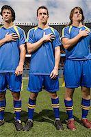 footballeur - Footballers in a row Stock Photo - Premium Royalty-Freenull, Code: 6114-06590559