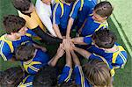 Footballers bonding Stock Photo - Premium Royalty-Free, Artist: Blend Images, Code: 6114-06590560