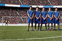 footballeur - Footballers defending a free kick Stock Photo - Premium Royalty-Freenull, Code: 6114-06590568