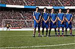 Footballers defending a free kick Stock Photo - Premium Royalty-Free, Artist: Aflo Sport, Code: 6114-06590568