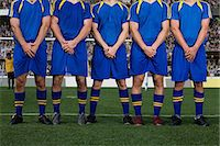 Footballers defending a free kick Stock Photo - Premium Royalty-Freenull, Code: 6114-06590574
