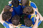 Footballers bonding Stock Photo - Premium Royalty-Free, Artist: Blend Images, Code: 6114-06590575