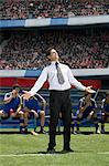 Disappointed football manager Stock Photo - Premium Royalty-Free, Artist: Blend Images, Code: 6114-06590576