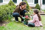 Mother and daughter gardening Stock Photo - Premium Royalty-Free, Artist: ableimages, Code: 6114-06590605
