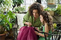 Mother and daughter sewing Stock Photo - Premium Royalty-Freenull, Code: 6114-06590608