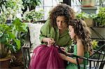 Mother and daughter sewing Stock Photo - Premium Royalty-Free, Artist: Blend Images, Code: 6114-06590608